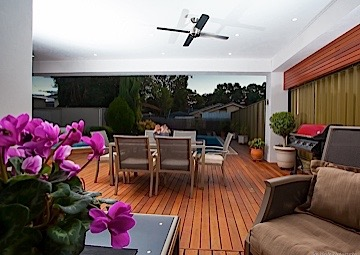 New terrace style outdoor living area